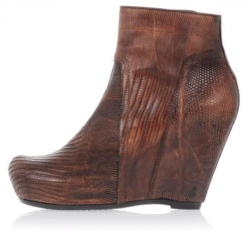 Snake Leather CLASSIC WEDGE Boots 12 cm