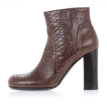 Python CHUNKY Ankle Boot 11 cm Blood