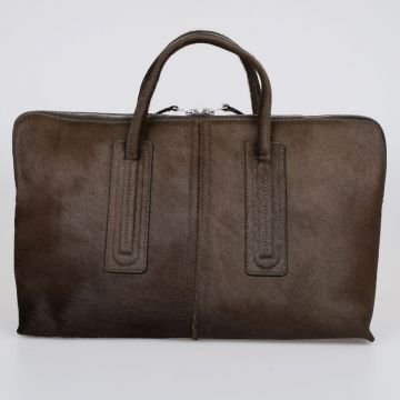 Borsa OVERNIGHT in Pelle DARK DUST