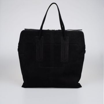 Suede Leather JUMBO SLIM Shopper Bag