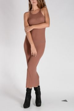 Silk Blend TANK Dress CYCLAMEN