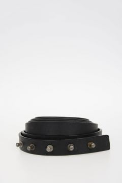 Cintura LONG BELT in Pelle 25 mm