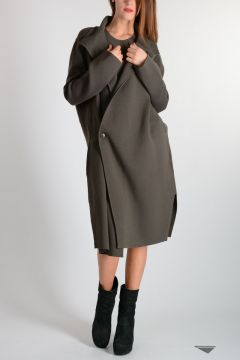 Knitted LIMO LINER PEACOAT DARKDUST