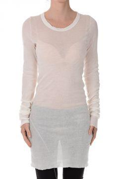 T-shirt a Maniche Lunghe in Cotone