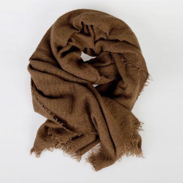 Wool Blend FLUFFY OBLONG 65X210 Scarf MUSTARD
