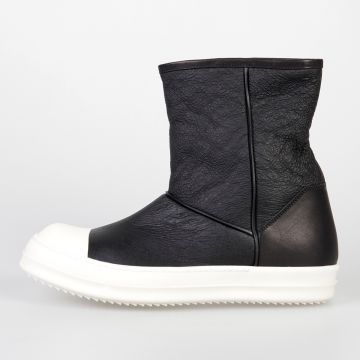 Leather SHEARLING ANKLE BOOTS