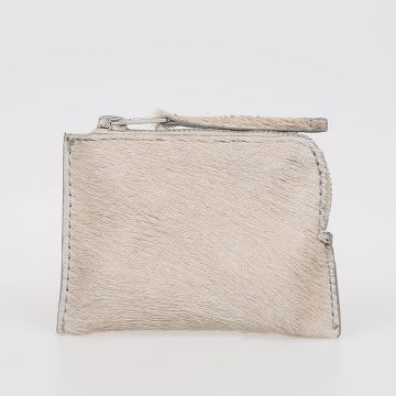 Leather Real Fur Wallet Nil