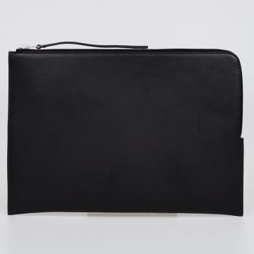 Leather MEDIUM ZIPPED ENVELOPE Laptop Sleeve