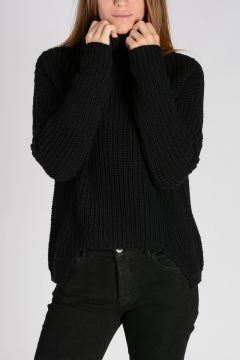 Virgin Wool CRATER KNIT GEO Sweater