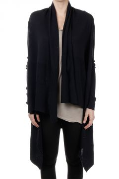 Wool HOODED WRAP Cardigan PASSPORT