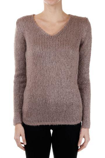 V Neck Silk Sweater