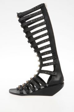Sandalo CENTRAL STUDDED HIGH in Pelle 5 cm