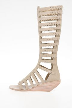 Sandalo Alto PLAIN HIGH SANDALS in Pelle