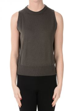 Virgin Wool BIKER Sleeveless Sweater