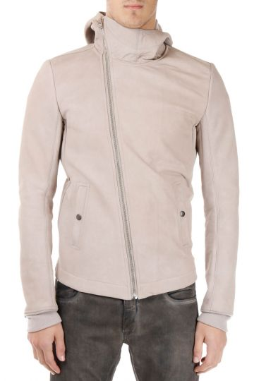 BULLET JKT Pearl Wool and Leather Jacket