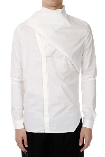 Camicia WRAPPED SHIRT in Popeline di Cotone