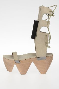 Leather W/BOW MONSTER CLOG HIGH Sandals