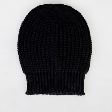 Virgin Wool Knitted BIG Hat