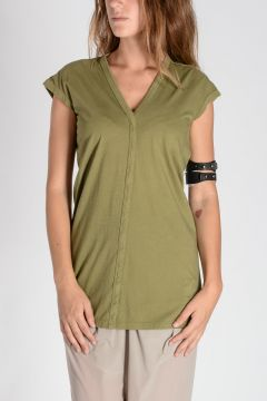 DRKSHDW V neck Top Limo Green