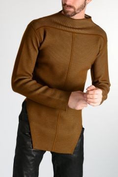 Virgin Wool LS FAUN LUPETTO Sweater MUSTARD/NIL