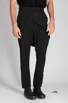 Pantalone SWINGER WRAP in Misto Lana Vergine Stretch