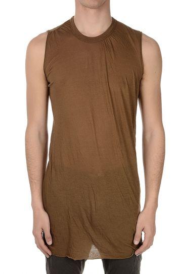 T-shirt senza Maniche In Cotone Mustard