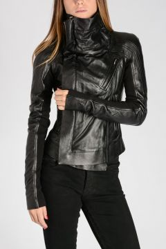 Leather BIKER ELIEL SLEEVES Jacket