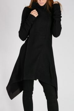 OBLIQUE BIKER Silk Blend Coat