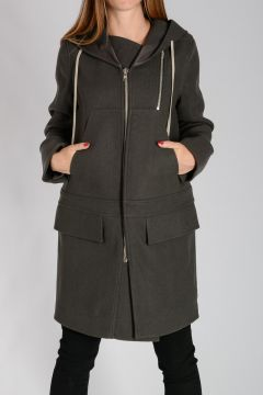 Virgin Wool Blend NEW COMBO Coat darkdust