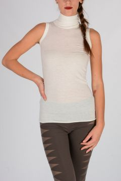 Wool Angora Blend Sleeveless Top