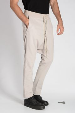 Virgin Wool Blend DRAWSTRING Pants PEARL