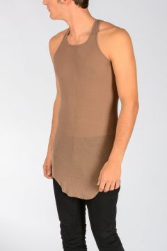 Silk Blend BASIC RIB Tank Top FAUN