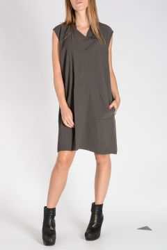 COWLED TUNIC Kleid 78 Dark Dust
