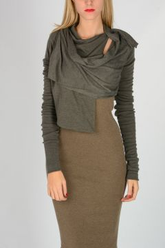 Cardigan SHORT WRAP DARKDUST