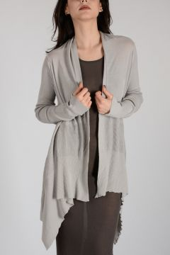 Cotton MEDIUM WRAP Cardigan PEARL