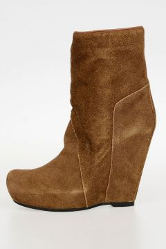 Leather PULL ON WEDGE Boot 12 cm