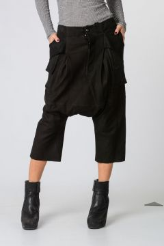 Cropped Pants in Cangaroo Leather