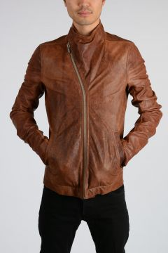 Leather GLOBA BOMBER Jacket