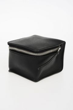 Beauty Case BLACK SQUARE in Pelle