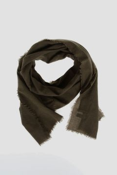 DRKSHDW Wool Blend Scarf in ARMY GREEN 47X240 cm