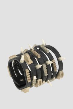 Leather studded  HALF MEGA COMBO Bracelet