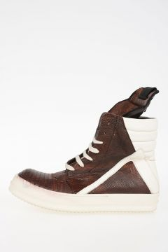 Leather GEOBASKET IGUANA Sneakers BLOOD/MILK