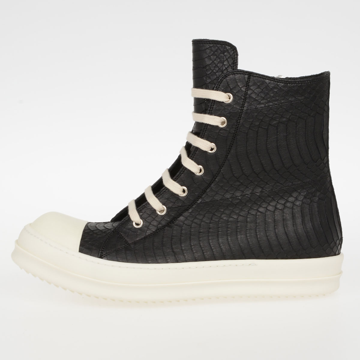 Rick Owens Uomo SNEAKERS SNAKE in Serpente BLACK WB - Glamood Outlet 3216384a0d9
