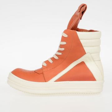 Sneakers GEOBASKET in Pelle PAPAYA/MILK/WB