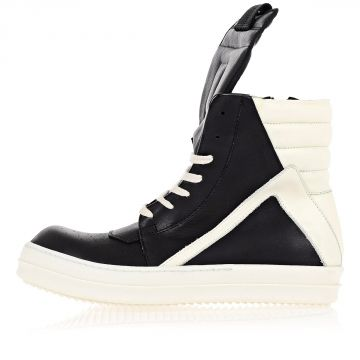 Sneakers in Pelle GEOBASKET Black milk