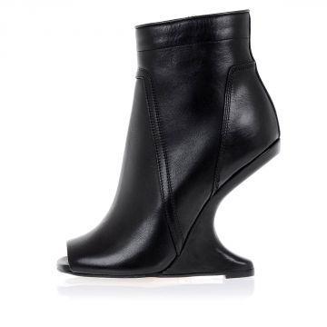 CANTILEVERED Open Toe Boot in Leather
