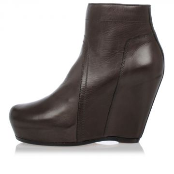 Zeppe CLASSIC ZIP WEDGE in Pelle