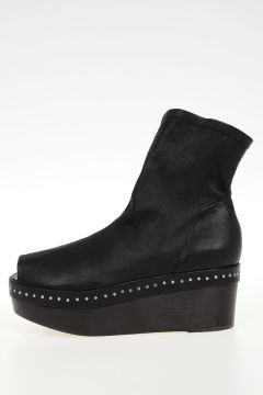 Sabot SCUBA in Pelle BLACK/BB 5cm