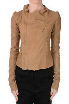 Leather LOW NECK BIKER Jacket