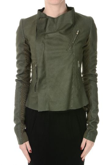 LOW NECK Leather Jacket